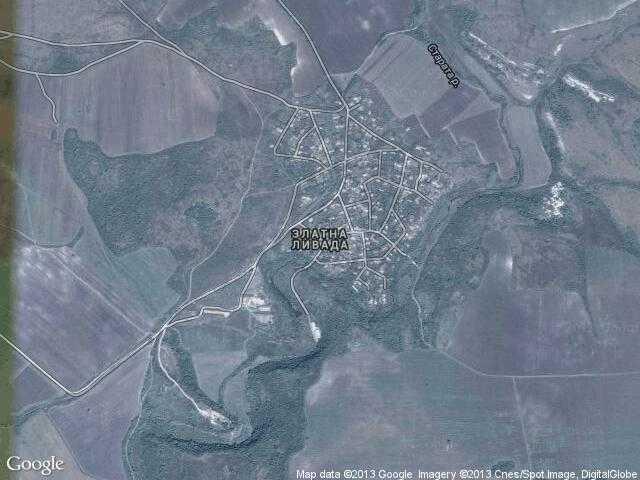 Сателитна карта на Златна ливада