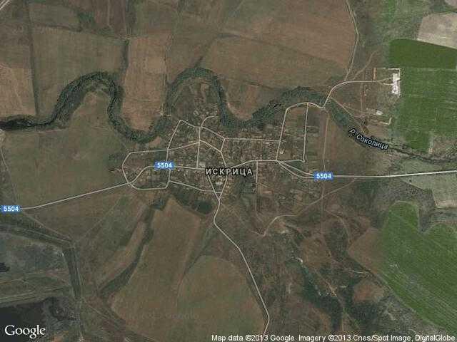 Сателитна карта на Искрица