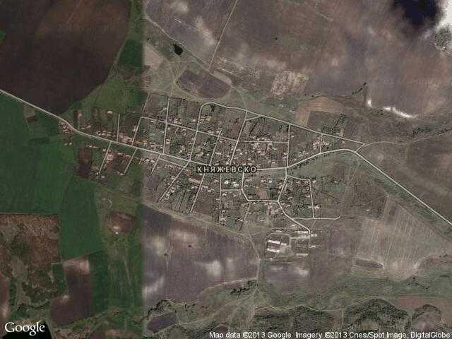 Сателитна карта на Княжевско