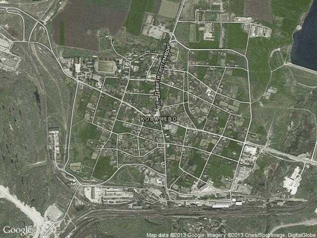 Сателитна карта на Ковачево