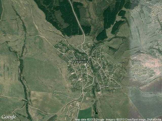Сателитна карта на Колю Мариново