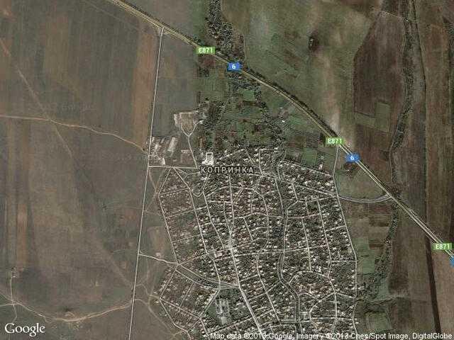 Сателитна карта на Копринка