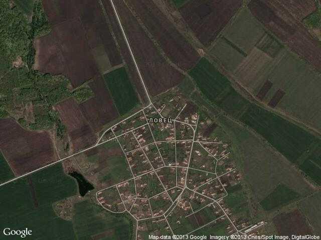 Сателитна карта на Ловец