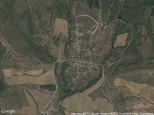Сателитна карта на Малко Дряново