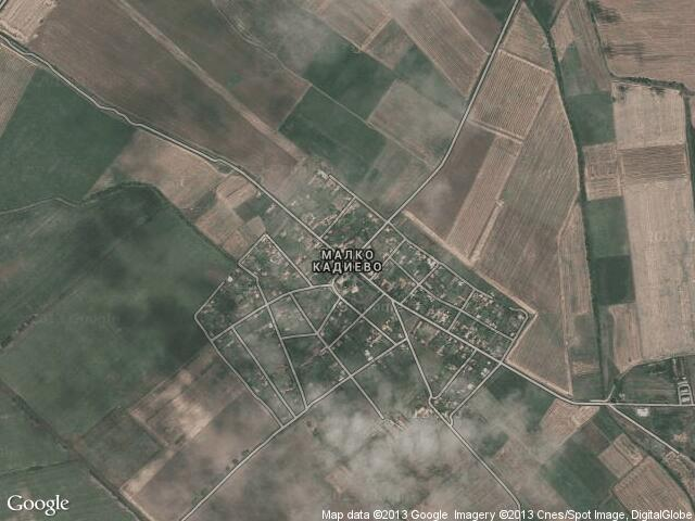 Сателитна карта на Малко Кадиево