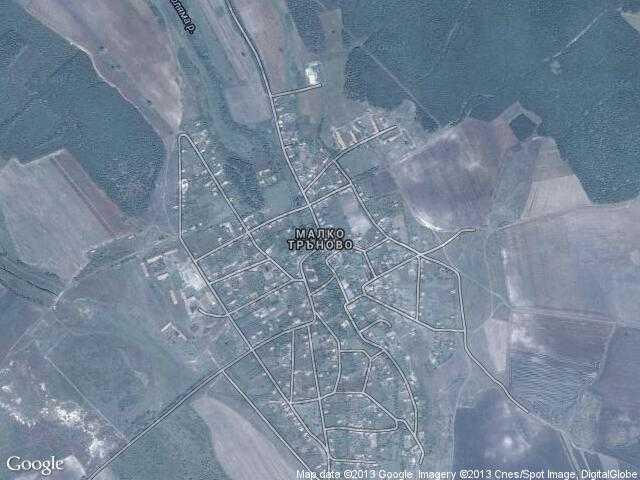 Сателитна карта на Малко Тръново