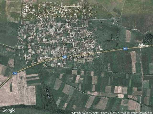 Сателитна карта на Мирово