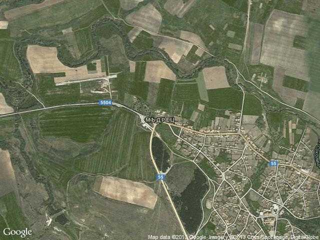 Сателитна карта на Мъдрец