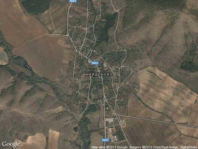 Сателитна карта на Найденово