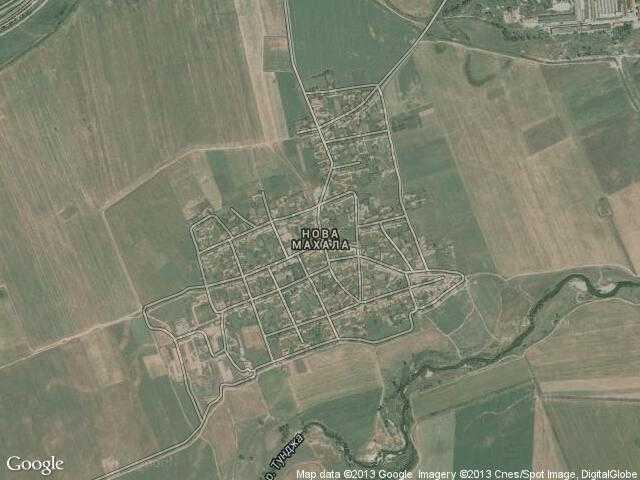 Сателитна карта на Нова махала