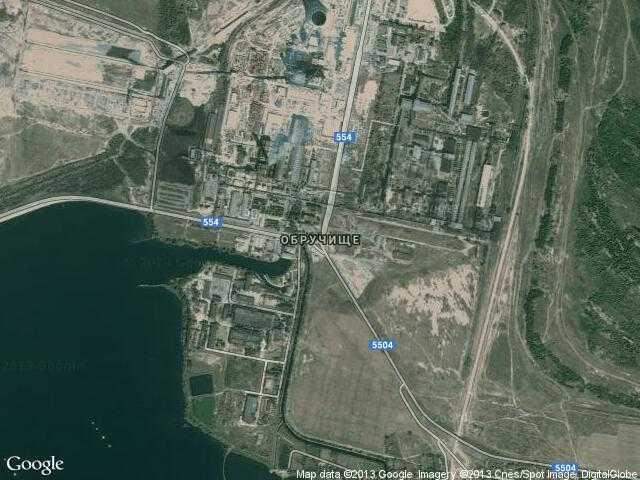 Сателитна карта на Обручище