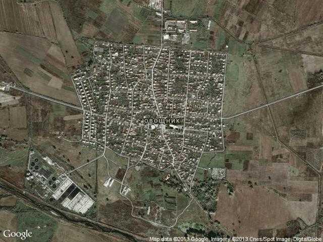 Сателитна карта на Овощник