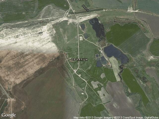 Сателитна карта на Овчарци