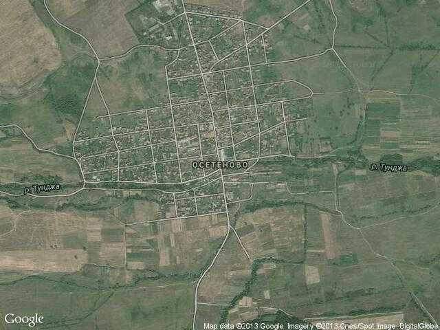 Сателитна карта на Осетеново