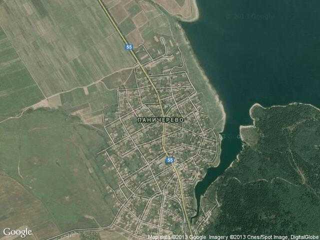 Сателитна карта на Паничерево