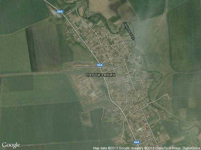 Сателитна карта на Партизанин