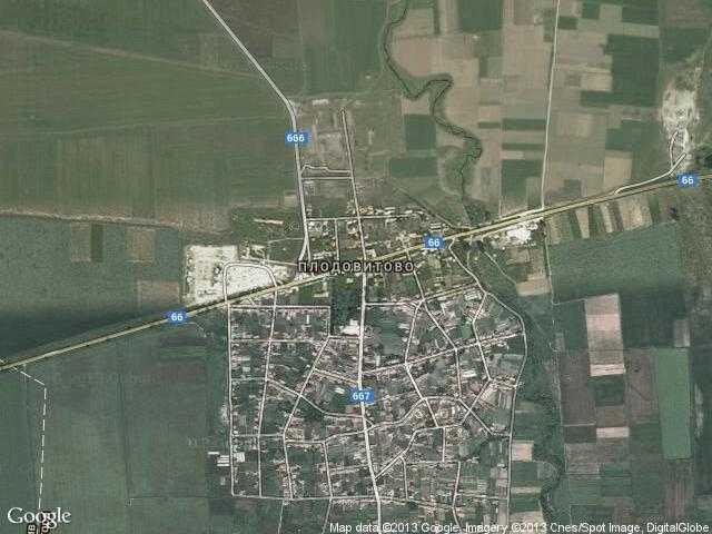 Сателитна карта на Плодовитово