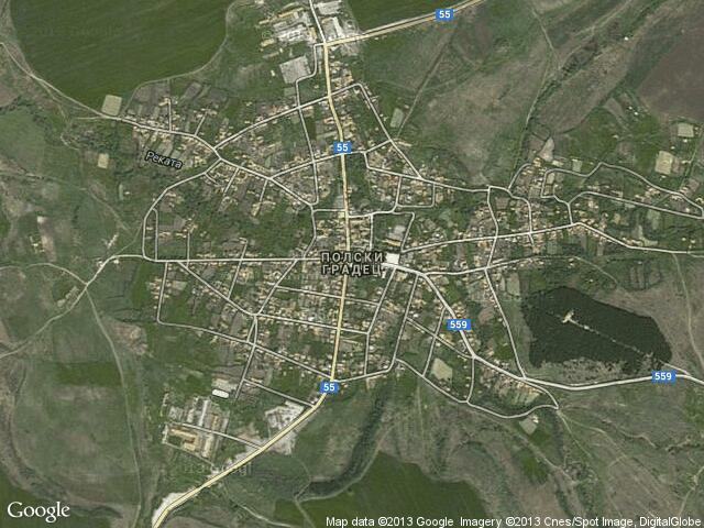 Сателитна карта на Полски Градец