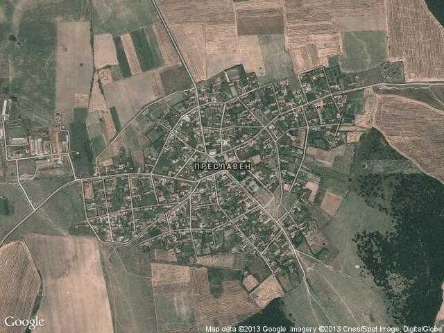 Сателитна карта на Преславен