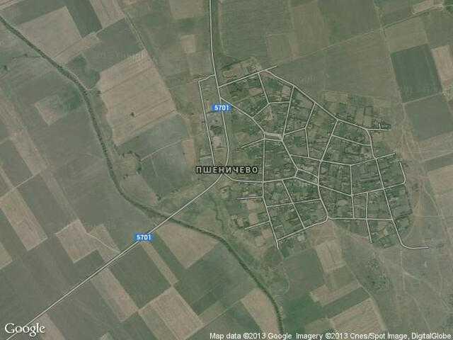 Сателитна карта на Пшеничево