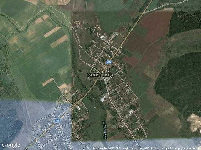 Сателитна карта на Ракитница