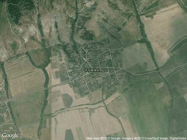Сателитна карта на Руманя