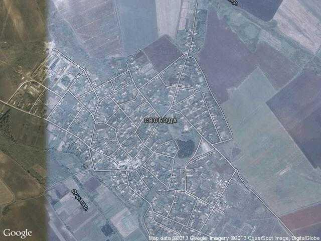 Сателитна карта на Свобода