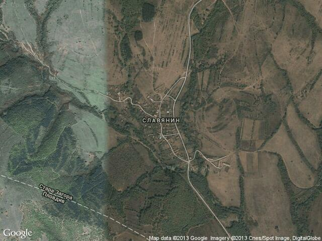Сателитна карта на Славянин