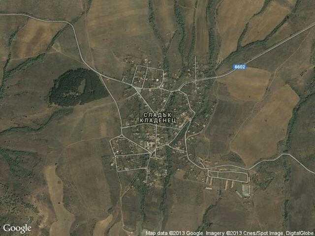 Сателитна карта на Сладък кладенец
