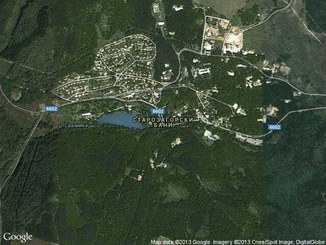 Сателитна карта на Старозагорски бани