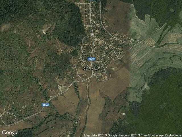 Сателитна карта на Сулица