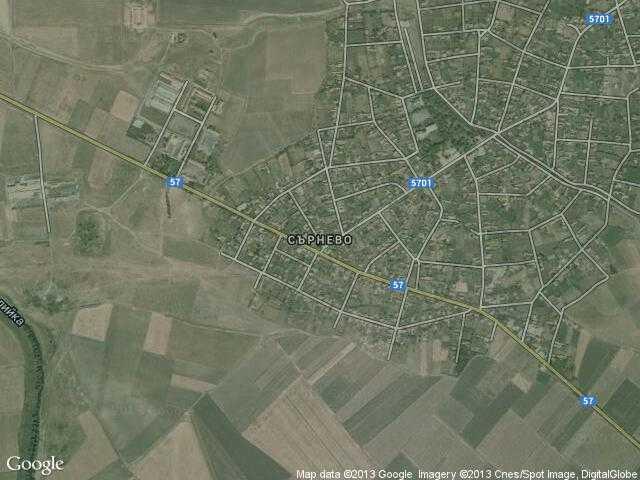 Сателитна карта на Сърнево