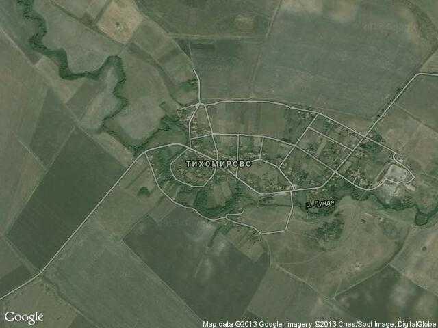Сателитна карта на Тихомирово