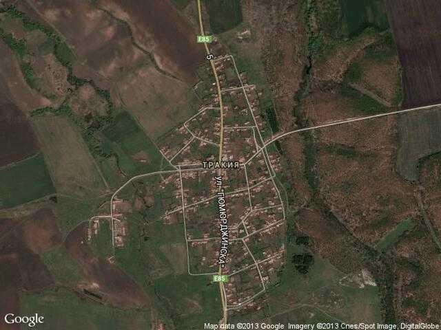 Сателитна карта на Тракия