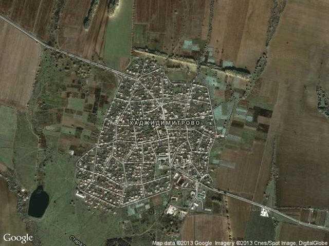 Сателитна карта на Хаджидимитрово