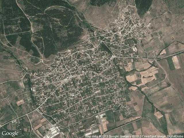 Сателитна карта на Хрищени