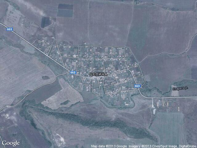 Сателитна карта на Целина