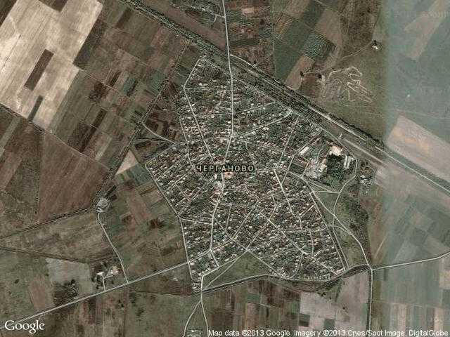 Сателитна карта на Черганово