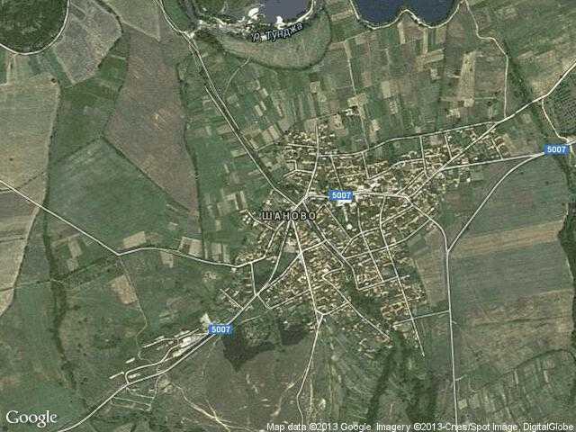 Сателитна карта на Шаново