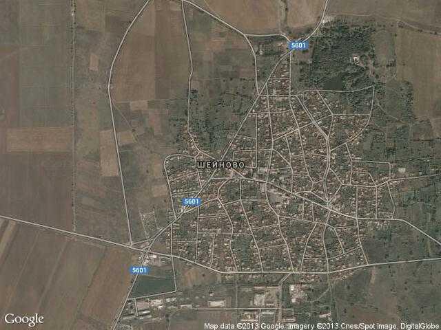 Сателитна карта на Шейново