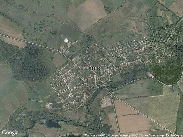 Сателитна карта на Юлиево