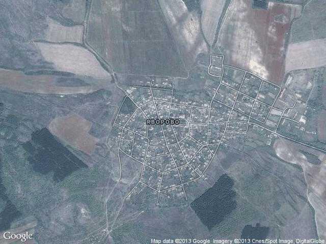 Сателитна карта на Яворово