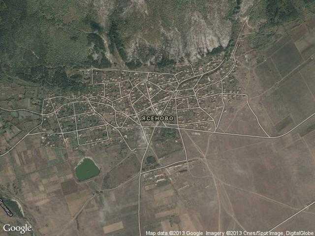 Сателитна карта на Ясеново