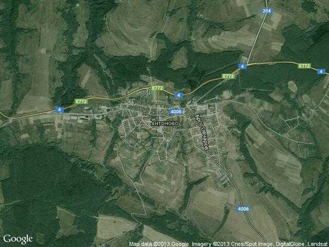 Сателитна карта на Антоново