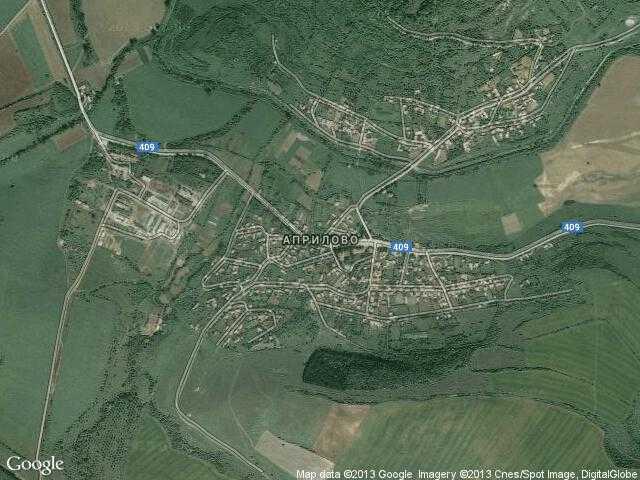 Сателитна карта на Априлово