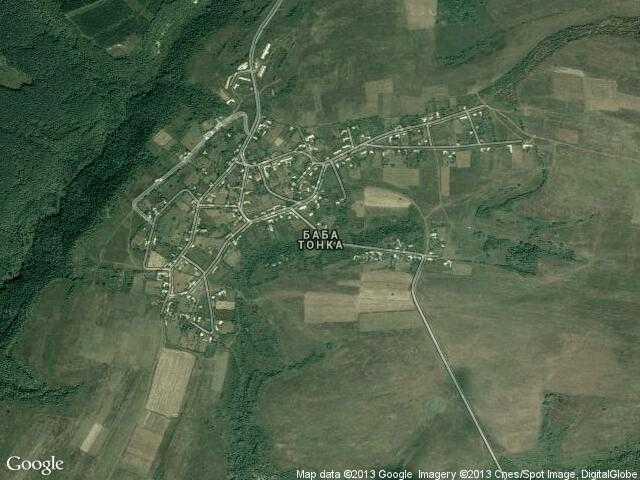 Сателитна карта на Баба Тонка