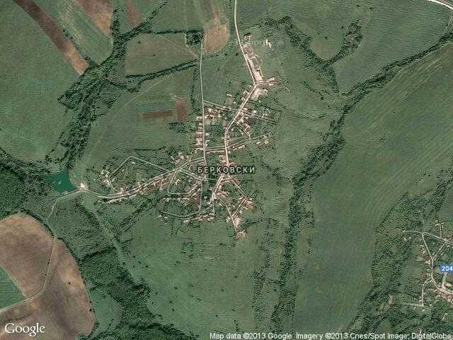 Сателитна карта на Берковски