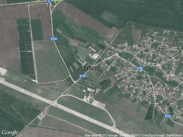 Сателитна карта на Буховци