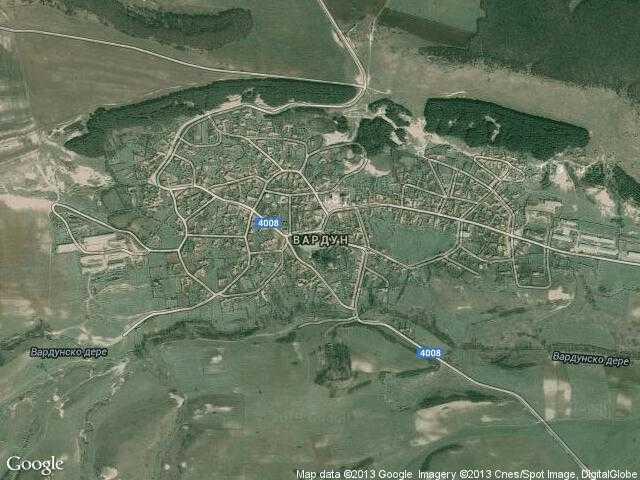 Сателитна карта на Вардун