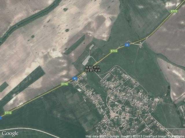 Сателитна карта на Васил Левски